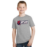 Youth Grey T-Shirt-Stacked Combination Logo