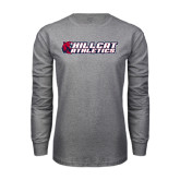 Grey Long Sleeve T Shirt-Hillcat Athletics