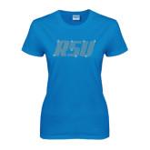 Ladies Sapphire T Shirt-RSU Rhinestones
