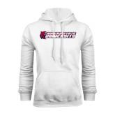 White Fleece Hoodie-University Logo