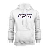 White Fleece Hoodie-RSU