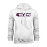 White Fleece Hoodie-Hillcat Athletics