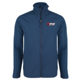 Navy Softshell Jacket-Stacked Combination Logo