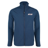 Navy Softshell Jacket-RSU