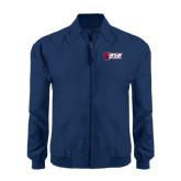 Navy Players Jacket-Stacked Combination Logo