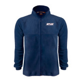 Fleece Full Zip Navy Jacket-RSU