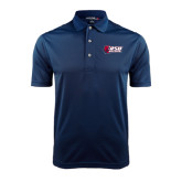 Navy Dry Mesh Polo-Stacked Combination Logo
