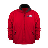 Red Survivor Jacket-Stacked Combination Logo