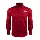 Red House Red Long Sleeve Shirt-Stacked Combination Logo