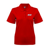 Ladies Easycare Red Pique Polo-RSU