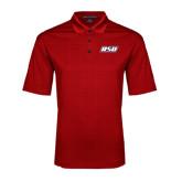 Red Performance Fine Jacquard Polo-RSU