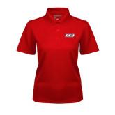 Ladies Red Dry Mesh Polo-RSU