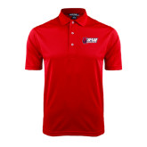 Red Dry Mesh Polo-Stacked Combination Logo
