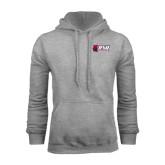 Grey Fleece Hoodie-Stacked Combination Logo