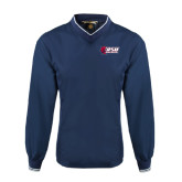 Navy Executive Windshirt-Stacked Combination Logo