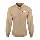 Khaki Executive Windshirt-Stacked Combination Logo