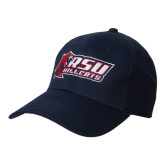 Navy Heavyweight Twill Pro Style Hat-Stacked Combination Logo