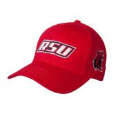 Red Heavyweight Twill Pro Style Hat-RSU