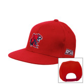 Red Flat Bill Snapback Hat-Official Logo