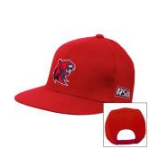 Red Flat Bill Snapback Hat-Official Logo