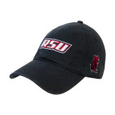 Black Twill Unstructured Low Profile Hat-RSU