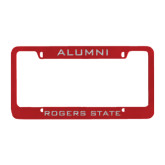 Alumni Metal Red License Plate Frame-Alumni