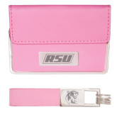 Business Card Case and Key Ring Set Pink-RSU Engraved