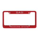 Dad Metal Red License Plate Frame-Dad
