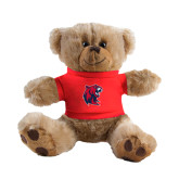 Plush Big Paw 8 1/2 inch Brown Bear w/Red Shirt-Official Logo