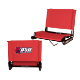 Stadium Chair Red-Stacked Combination Logo