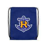 Nylon Royal Drawstring Backpack-Official Logo