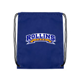Royal Drawstring Backpack-Arched Rollins Tars