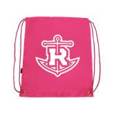 Pink Drawstring Backpack-Official Logo