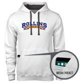 Contemporary Sofspun White Hoodie-Arched Rollins Tars