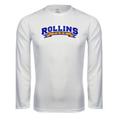 Syntrel Performance White Longsleeve Shirt-Arched Rollins Tars