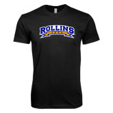 Next Level SoftStyle Black T Shirt-Arched Rollins Tars