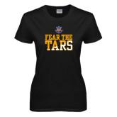 Ladies Black T Shirt-Fear The Tars