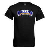 Black T Shirt-Arched Rollins Tars