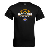 Black T Shirt-Rollins Soccer Stacked