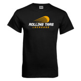 Black T Shirt-Rollins Tars Lacrosse Stacked