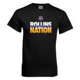 Black T Shirt-Rollins Nation Stacked