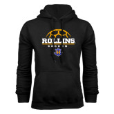 Black Fleece Hoodie-Rollins Soccer Stacked