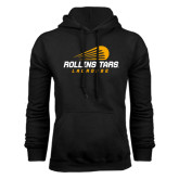 Black Fleece Hoodie-Rollins Tars Lacrosse Stacked