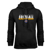 Black Fleece Hoodie-Rollins College Softball Underline