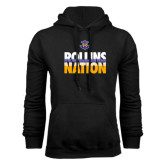 Black Fleece Hoodie-Rollins Nation Stacked
