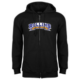 Black Fleece Full Zip Hoodie-Arched Rollins Tars