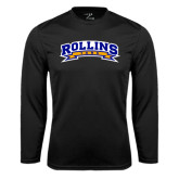 Performance Black Longsleeve Shirt-Arched Rollins Tars