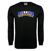 Black Long Sleeve TShirt-Arched Rollins Tars