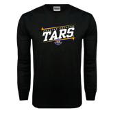 Black Long Sleeve TShirt-Slanted Rollins College Tars