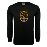 Black Long Sleeve TShirt-Soccer Shield